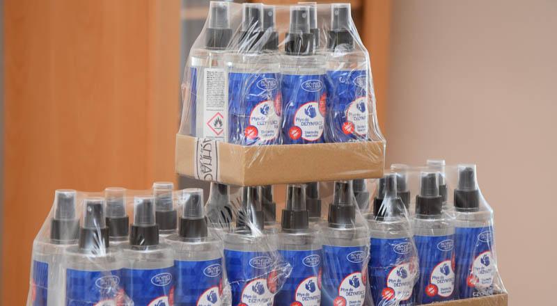 Pachnąca Szafa zaopatrzyła region w środki do dezynfekcji