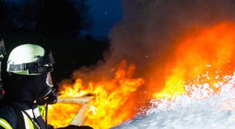Pożar budynku gospodarczego na Os. Granice w Ropczycach