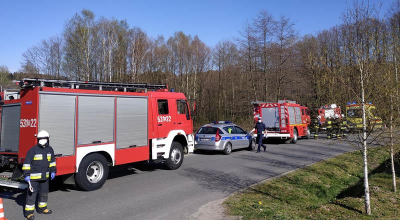 Wypadek motocyklisty w Zagorzycach
