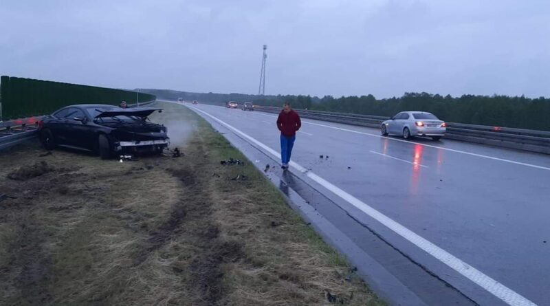 Kolizja na autostradzie A4