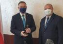 Starosta W. Darłak spotkał się z prezydentem Andrzejem Dudą