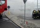 Pożar samochodu na wiadukcie w Sędziszowie Młp.
