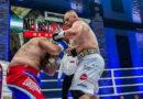 Łukasz Różański z Czarnej Sędziszowskiej szybko rozprawił się z Łotyszem na gali boksu w Hotelu Arłamów