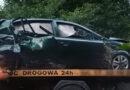 Nocny wypadek w Bystrzycy. Jeden z pasażerów trafił do szpitala