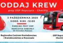 W sobotę 3 października możesz oddać krew przy OSP Ropczyce-Chechły !!!