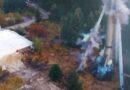 Najpierw syreny, potem huk! Wyburzony komin w Sędziszowie Młp.