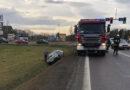 Wypadek na krajowej 94 w Sędziszowie Młp. Ruch odbywa się wahadłowo