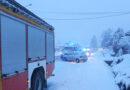 Seria kolizji na drogach powiatu. Śniegu nadal przybywa …
