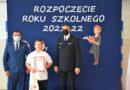 """Kacper Maciołek z Borku Małego laureatem ogólnopolskiego konkursu  """"MÓJ BEZPIECZNY DOM""""."""