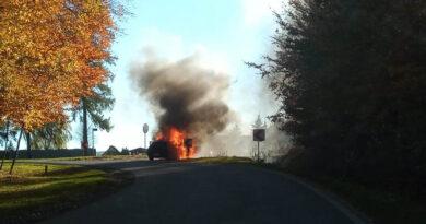 Z ostatniej chwili: Pożar osobówki w Lubzinie